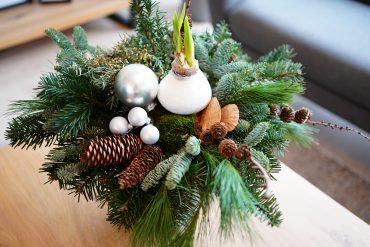 Kerststuk maken