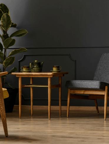 Kamerplanten voor in een vintage interieur
